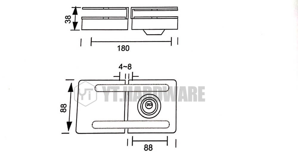YT-GDL333A Glass Cylinder Fitting