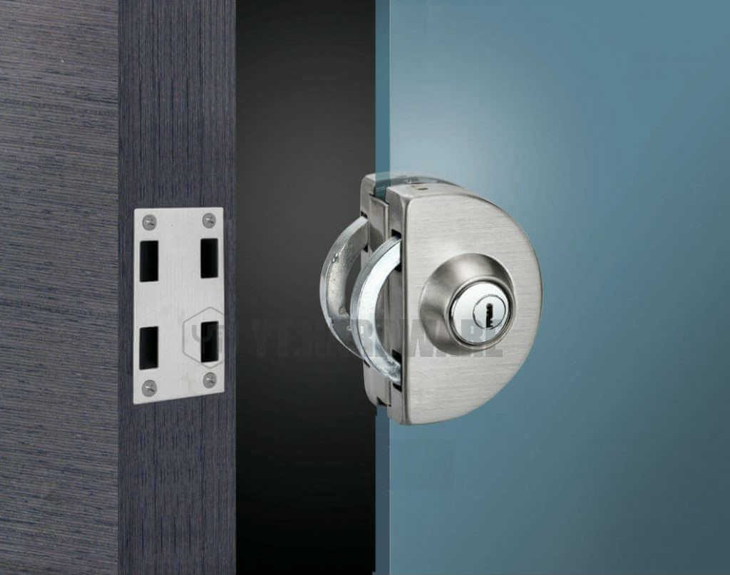 YT-GDL 207 A glass door lock no drilling required