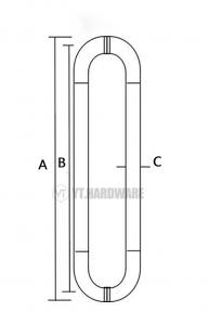YT-GH8964 bathroom door handles