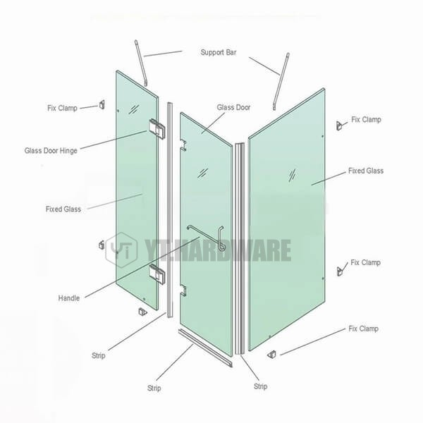 glass hinge accessories