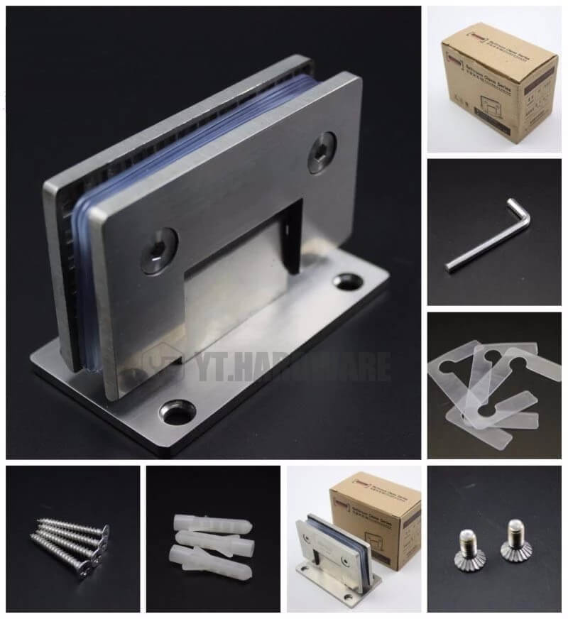 shower glass clips hardware