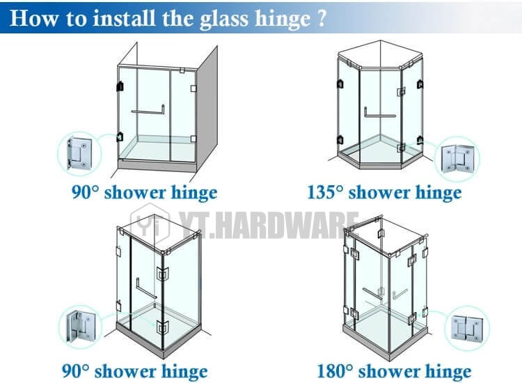 how to install shower door hinges