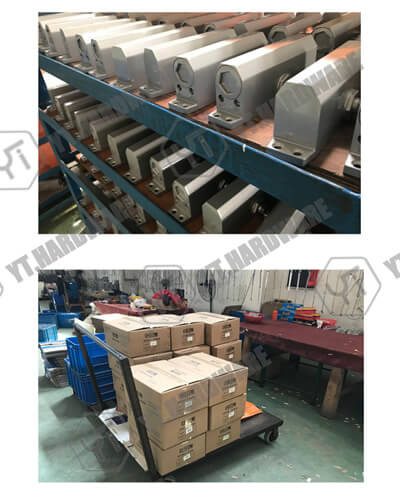 glass mounting hardware packing and shipping