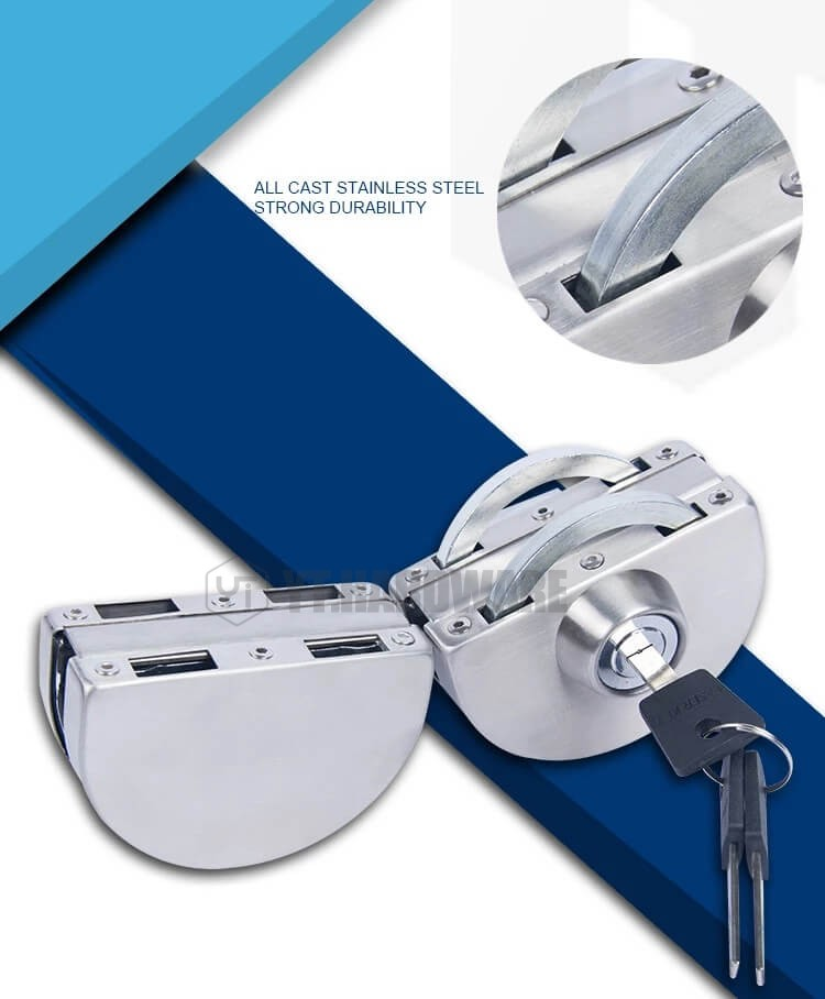 YT-GDL207a  Glass Door Lock No Drilling