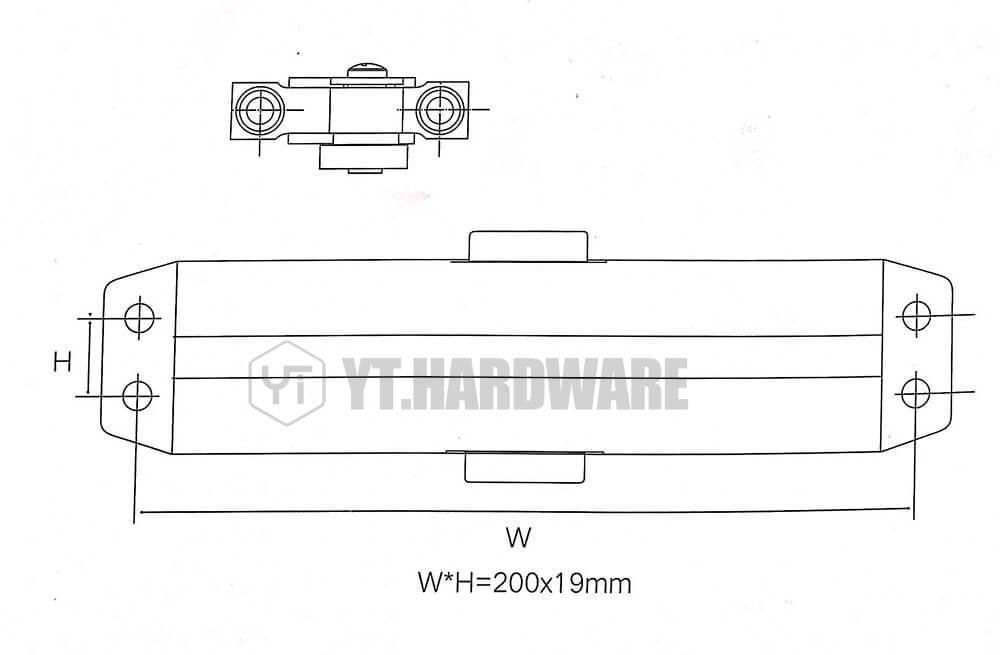yt-dc090 hydraulic door closer