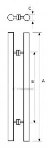 yt-gh8801 frameless shower door handles